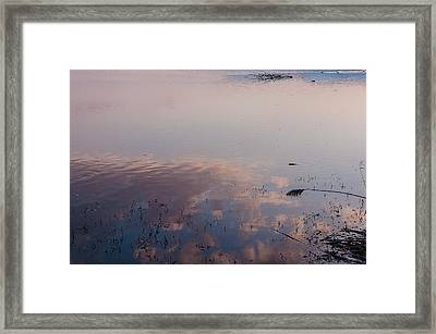 Sky In The Water Framed Print