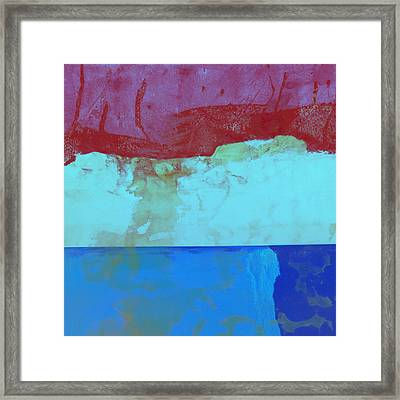 Sky Into The Sea Framed Print by Carol Leigh
