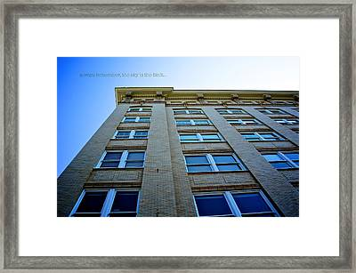 Sky Is The Limit Framed Print by Brandon Addis