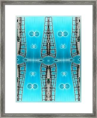 Sky Ladders Framed Print by Wendy J St Christopher