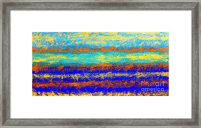 Sky Lights - Original Metallic Gold Bronze Art  Painting Framed Print by Emma Lambert