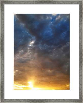 Sky Moods - Contemplation Framed Print