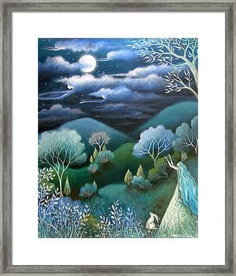Sky Of Angels Framed Print by Amanda Clark