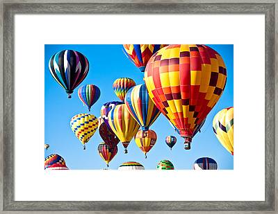 Sky Of Color Framed Print
