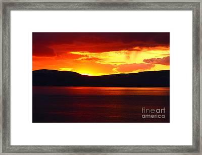Sky Of Fire Framed Print by Aidan Moran