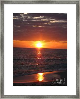 Sky On Fire I Framed Print by Christiane Schulze Art And Photography