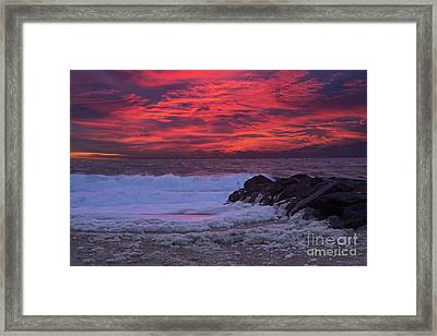 Sky On Fire In Lewes Framed Print