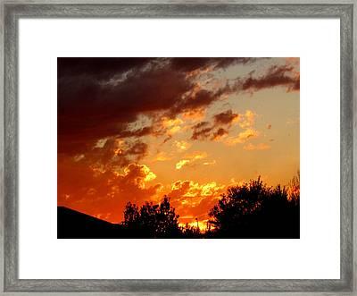 Sky On Fire. Framed Print by Joyce Woodhouse