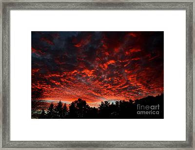Sky On Fire Framed Print by Kenny Glotfelty