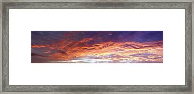Sky On Fire Framed Print by Les Cunliffe