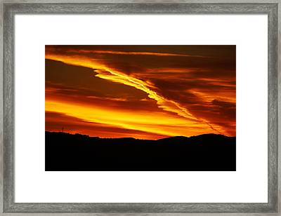Sky On Fire Framed Print by Michael Courtney