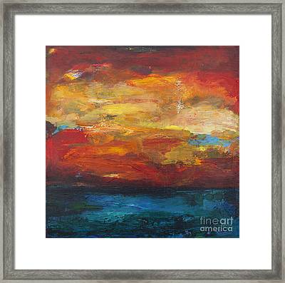 Sky On Water Framed Print by Stella Levi