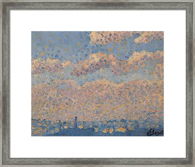 Sky Over The City Framed Print by Louis Hayet