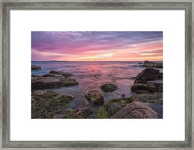 Sky Purple Framed Print