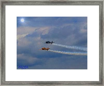 Sky Raiders  Framed Print