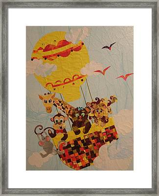 Framed Print featuring the mixed media Sky Riders by Diane Miller