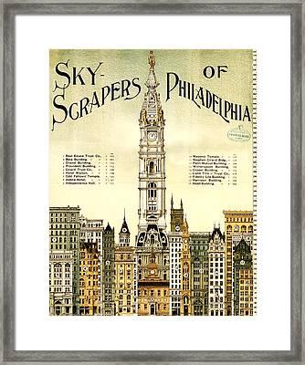 Sky Scrapers Of Philadelphia 1896 Framed Print