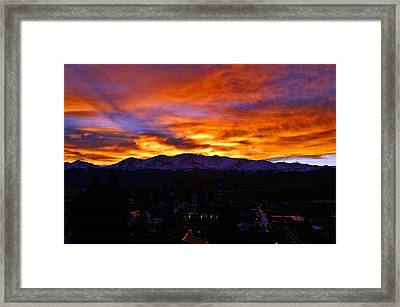 Framed Print featuring the photograph Sky Shadows by Jeremy Rhoades