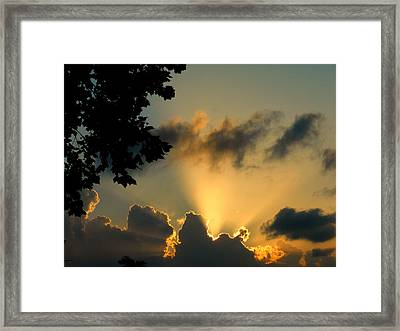 Sky Show Framed Print by Sherry Dooley