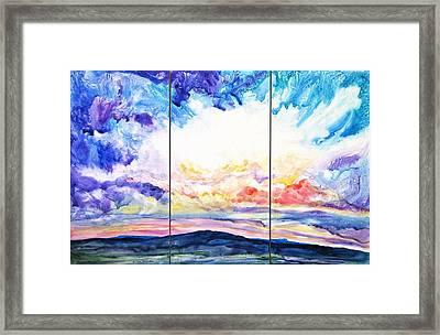 Sky Sonata Framed Print
