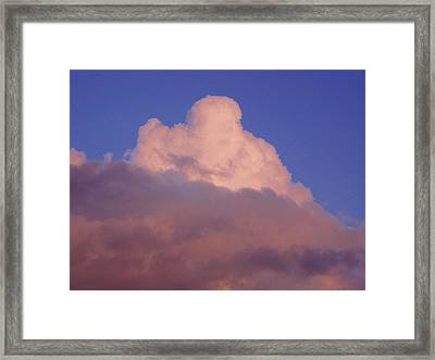 Framed Print featuring the photograph Sky Song 3 by Laurie Stewart