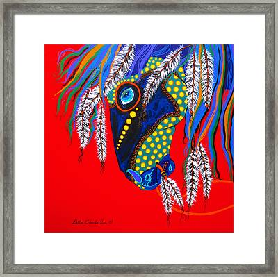 Framed Print featuring the painting Sky Spirit by Debbie Chamberlin