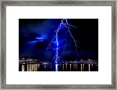 Sky Streaking Framed Print by Doug Heslep