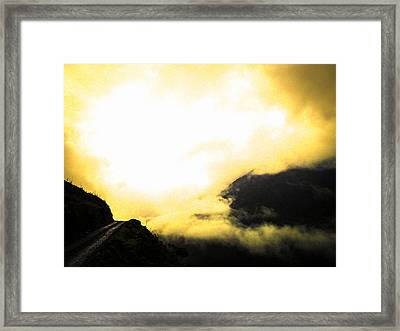 Sky Trails Framed Print