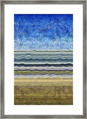 Sky Water Earth 2 Framed Print by Michelle Calkins
