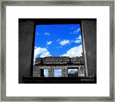 Sky Windows Framed Print by Nina Ficur Feenan