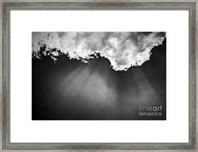 Sky With Sunrays Framed Print by Elena Elisseeva