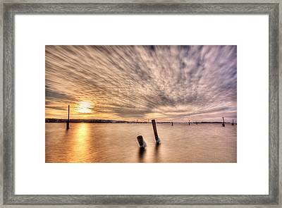 Sky Writing Framed Print