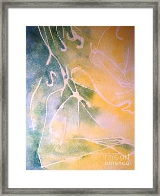 Sky Writing Framed Print