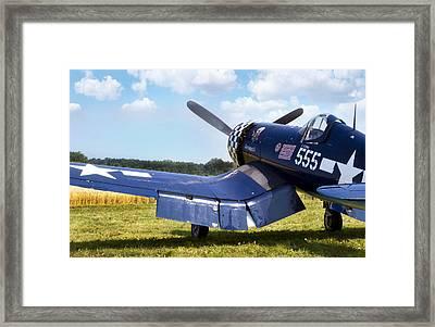 Skyboss Corsair Framed Print