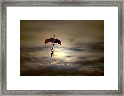 Evening Skydiver Framed Print by Dyle   Warren