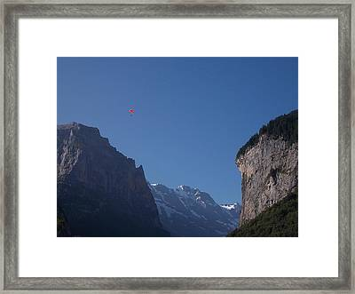 Skydiver Over Lauterbrunnen Framed Print