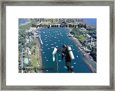 Skydiving 1 Framed Print by Donnie Freeman