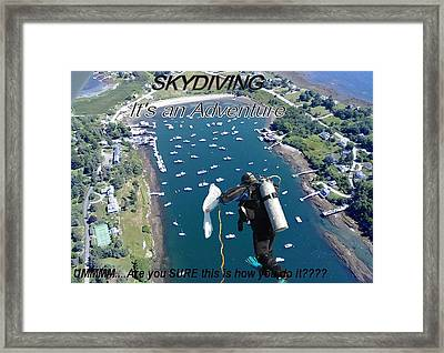 Skydiving 2 Framed Print by Donnie Freeman