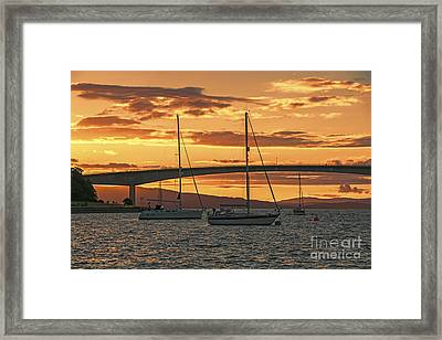 Skye Bridge Sunset Framed Print