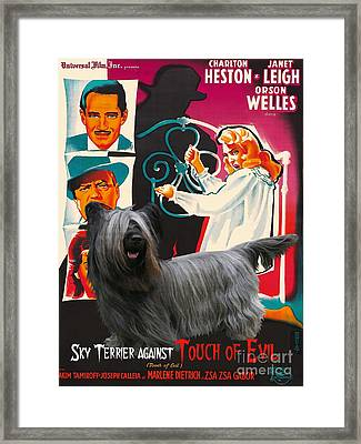 Skye Terrier Art Canvas Print - Touch Of Evil Movie Poster Framed Print