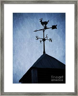 Skyfall Deer Weathervane  Framed Print by Edward Fielding