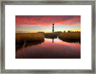 Framed Print featuring the photograph Skyfire by Bernard Chen