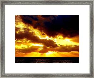Framed Print featuring the photograph Skygold by Amar Sheow