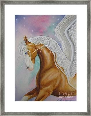 Skyhorse Aurora Framed Print by Louise Green