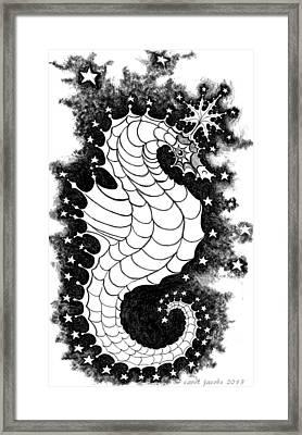 Framed Print featuring the digital art Skyhorse by Carol Jacobs