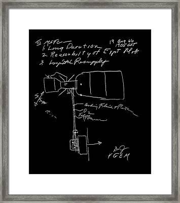 Skylab Concept Sketch Framed Print by Nasa