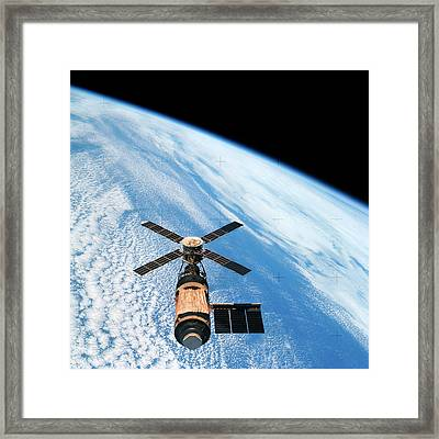 Skylab Space Station In Orbit Framed Print