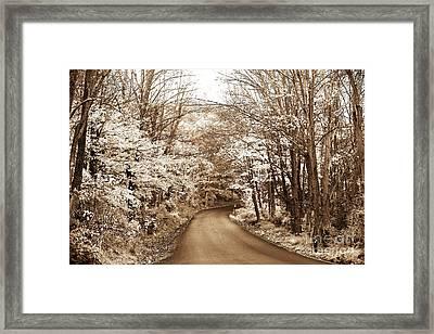 Skyland Road Framed Print
