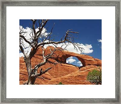 Skyline Arch 2 Framed Print by Mel Steinhauer