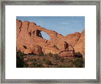 Skyline Arch Framed Print by Susan Rolle